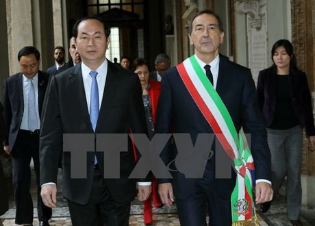 Toan canh: Chu tich nuoc tham chinh thuc Italy va Toa thanh Vatican - Anh 21