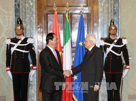 Toan canh: Chu tich nuoc tham chinh thuc Italy va Toa thanh Vatican - Anh 6