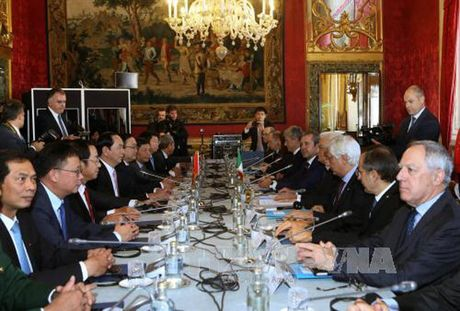 Toan canh: Chu tich nuoc tham chinh thuc Italy va Toa thanh Vatican - Anh 7