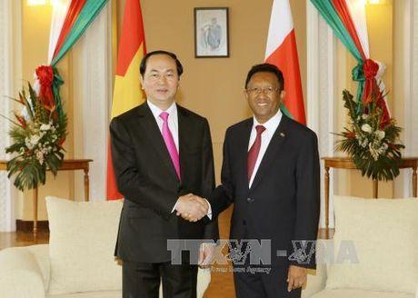 Chu tich nuoc Tran Dai Quang hoi dam voi Tong thong Madagascar - Anh 1