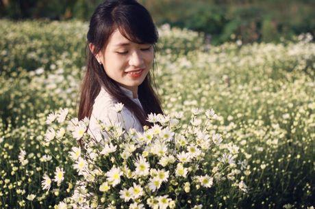 Thieu nu Ha thanh ron rang check-in vuon hoa cuc hoa mi tuyet dep - Anh 9