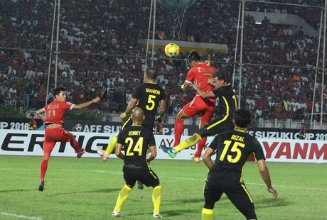 Myanmar vao ban ket sau chien thang muon truoc Malaysia - Anh 1