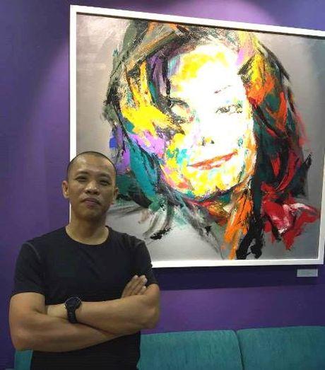 Trien lam tranh chan dung Michael Jackson tai Ha Noi - Anh 1