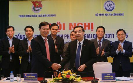 Bo KH&CN va Trung uong Doan ky ket ho tro thanh nien khoi nghiep - Anh 2