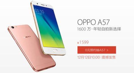 Oppo A57 chinh thuc: 3GB RAM, camera tu suong 13MP, gia khoang 239 USD - Anh 1
