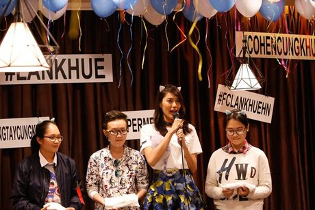 Lan Khue 'dung hinh' khi bi fan Ha Noi 'chat chem' - Anh 9