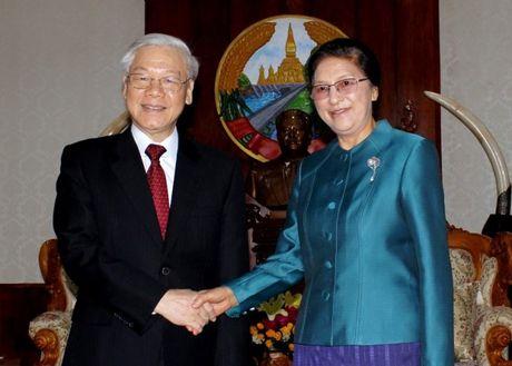 Tong Bi thu Nguyen Phu Trong tham CHDCND Lao - Anh 11