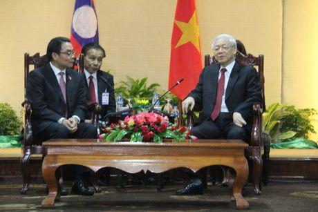 Tong Bi thu Nguyen Phu Trong tham CHDCND Lao - Anh 13