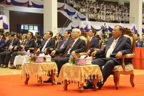 Tong Bi thu Nguyen Phu Trong tham CHDCND Lao - Anh 14
