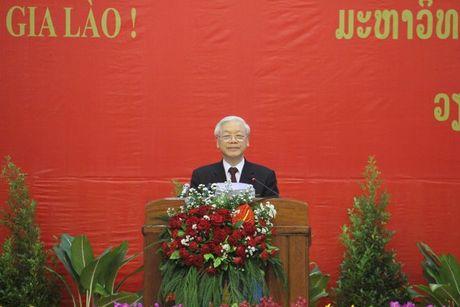 Tong Bi thu Nguyen Phu Trong tham CHDCND Lao - Anh 16