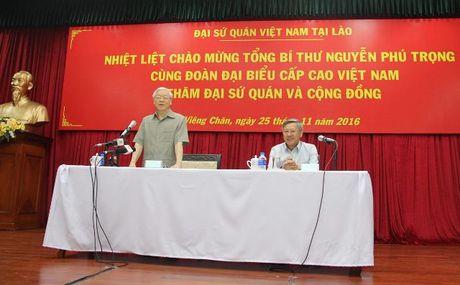 Tong Bi thu Nguyen Phu Trong tham CHDCND Lao - Anh 24