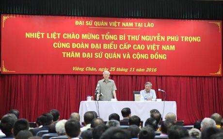 Tong Bi thu tham Dai su quan Viet Nam tai Lao - Anh 1