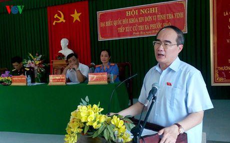 Chu tich Uy ban Trung uong MTTQ Viet Nam tiep xuc cu tri Tra Vinh - Anh 1