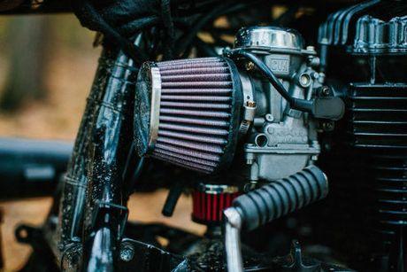 Ngam Kawasaki W650 Scrambler do hinh xam cuc chat - Anh 6
