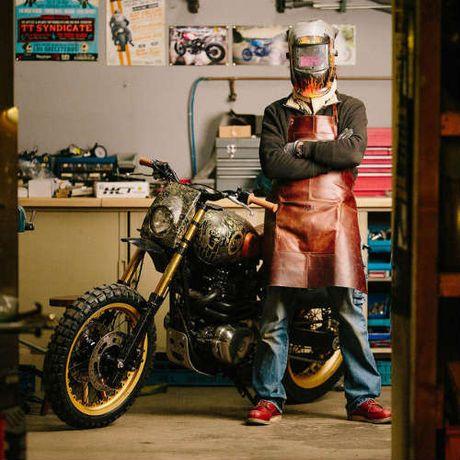Ngam Kawasaki W650 Scrambler do hinh xam cuc chat - Anh 9