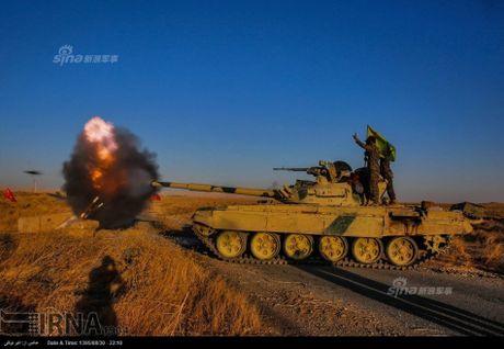 Muc kich tang, phao Quan doi Iraq xa mua dan vao Mosul - Anh 2