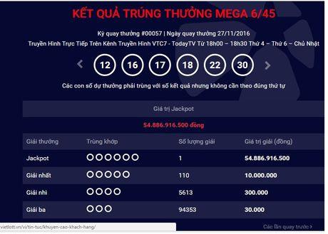 Xuat hien nguoi thu 5 trung giai Vietlott hon 54 ty dong - Anh 1