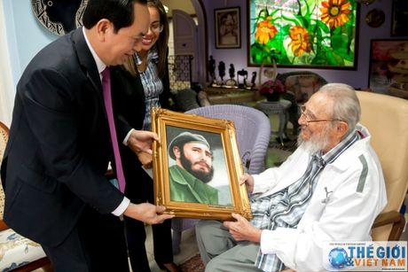 Hinh anh Lanh tu Cuba Fidel Castro trong cuoc gap Chu tich nuoc Tran Dai Quang - Anh 5