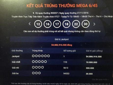 Bat ngo co them nguoi trung hon 54 ty dong xo so Vietlott - Anh 1
