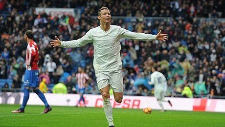 Real Madrid 2-1 Sporting Gijon: Sap trao Bong vang, Ronaldo 'no sung' tung bung - Anh 2