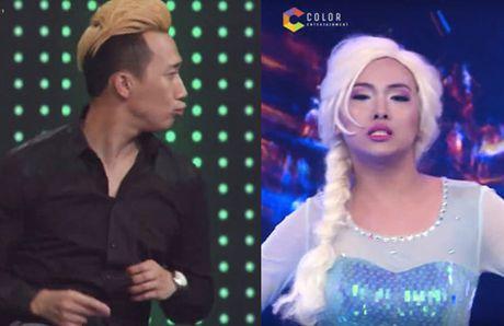 Giong ai giong ai: Tran Thanh nhay 'goi cam' voi thi sinh gia gai - Anh 1