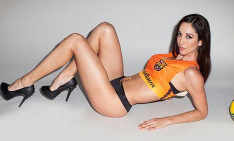 Olinda Castaneda: Nguoi dep yeu Barca, me Messi - Anh 1