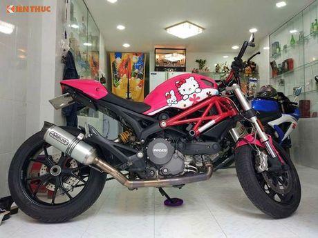 Ducati Monster 796 do Hello Kitty 'sieu cute' tai Viet Nam - Anh 2