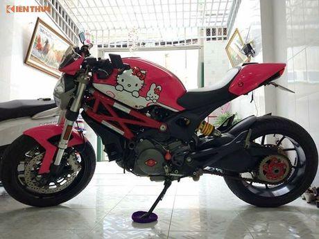 Ducati Monster 796 do Hello Kitty 'sieu cute' tai Viet Nam - Anh 5