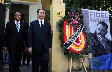 Lanh dao Dang, Nha nuoc va nguoi dan Viet Nam den vieng lanh tu Fidel Castro - Anh 4
