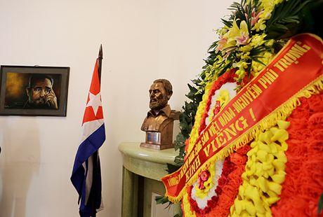 Lanh dao Dang, Nha nuoc va nguoi dan Viet Nam den vieng lanh tu Fidel Castro - Anh 7