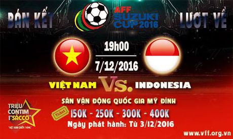 Ve ban ket Viet Nam – Indonesia: Cao nhat 400.000 dong - Anh 1
