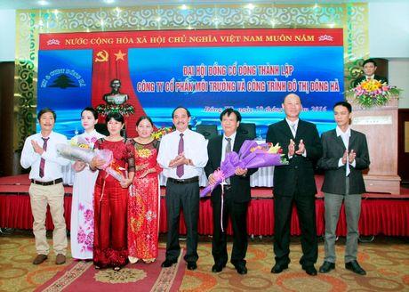 Quang Tri: Dai hoi dong co dong thanh lap Cong ty CP Moi truong va Cong trinh Do thi Dong Ha - Anh 1