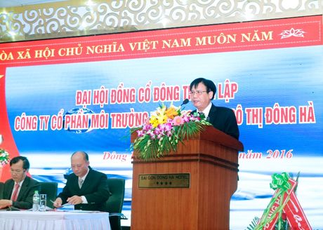 Quang Tri: Dai hoi dong co dong thanh lap Cong ty CP Moi truong va Cong trinh Do thi Dong Ha - Anh 2