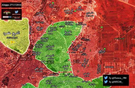 Quan doi Syria o at danh chiem hang loat quan tai tu dia Aleppo - Anh 1