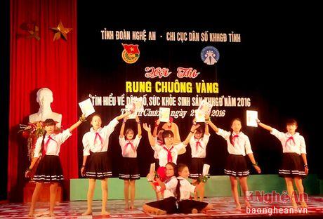 Thi Rung chuong vang tim hieu suc khoe sinh san vi thanh nien tai Thanh Chuong - Anh 1