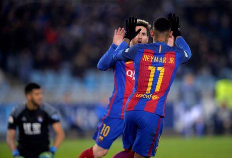 Messi ghi ban, Barca van tut lai o cuoc dua voi Real - Anh 6