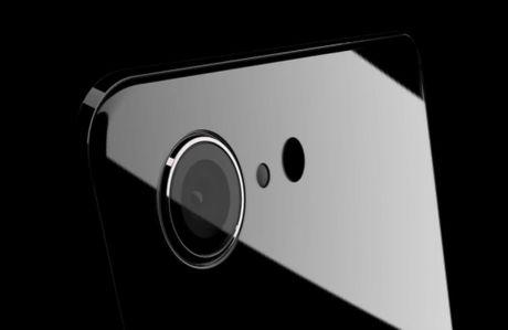 Y tuong iPhone 8 thiet ke khong vien, than boc kim loai - Anh 1