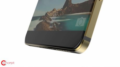 Y tuong iPhone 8 thiet ke khong vien, than boc kim loai - Anh 3