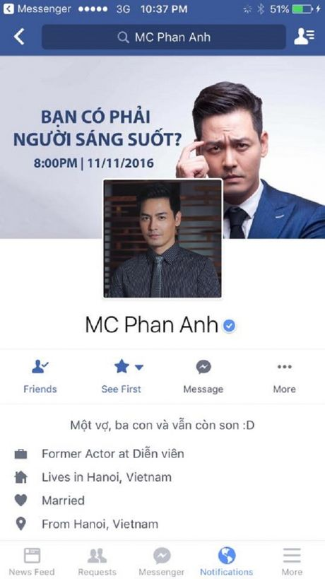Facebook cua MC Phan Anh bat ngo bi khoa - Anh 2
