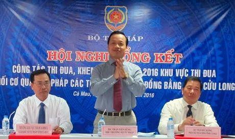 Dua cong tac tu phap, thi hanh an dan su len tam cao moi - Anh 1