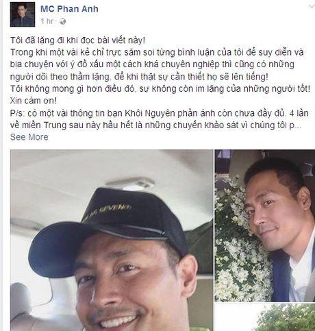 MC Phan Anh lan dau trai long sau khi Facebook duoc mo tro lai - Anh 2