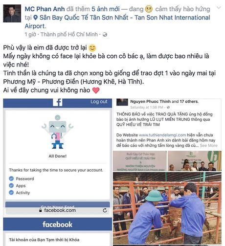MC Phan Anh lan dau trai long sau khi Facebook duoc mo tro lai - Anh 3