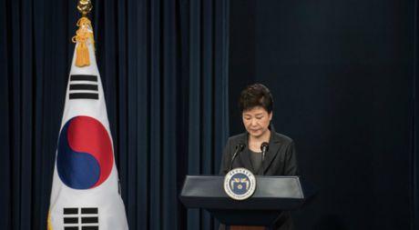 Tong thong Park Geun-hye bat ngo tu bo quyen luc - Anh 1