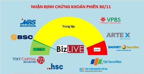 Nhan dinh chung khoan 30/11: Tranh bat day som, cho dieu chinh qua di - Anh 1
