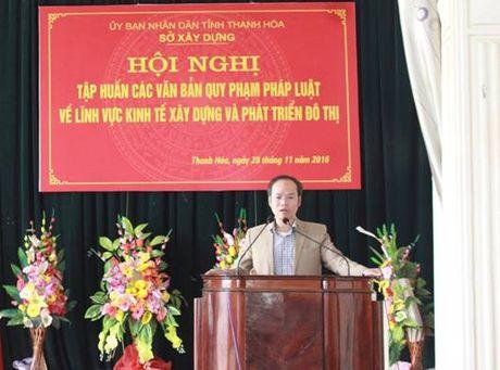 Thanh Hoa: Tap huan van ban moi ve kinh te xay dung va phat trien do thi - Anh 1