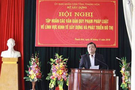 Thanh Hoa: Tap huan van ban moi ve kinh te xay dung va phat trien do thi - Anh 3