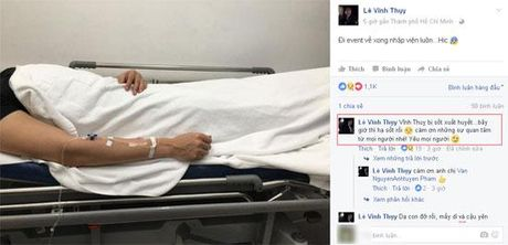 Vinh Thuy phai nhap vien khien fan lo lang - Anh 3