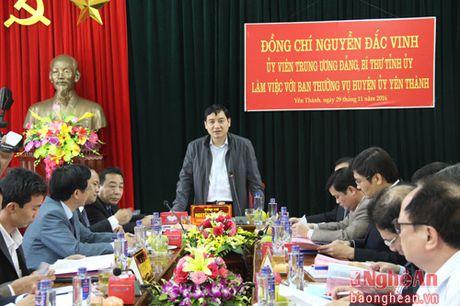 Bi thu Tinh uy Nguyen Dac Vinh: Yen Thanh can thu hut doanh nghiep dau tu vao nong nghiep - Anh 1