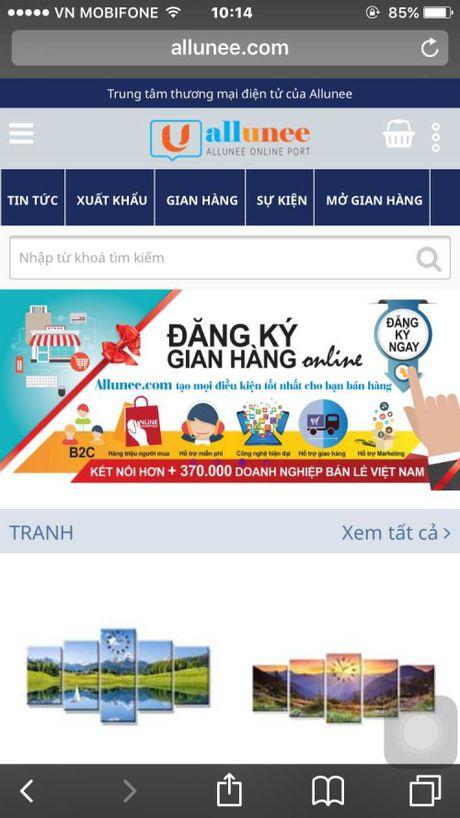 Allunee.com: Giai phap hieu qua cho DN mo gian hang TMDT - Anh 2