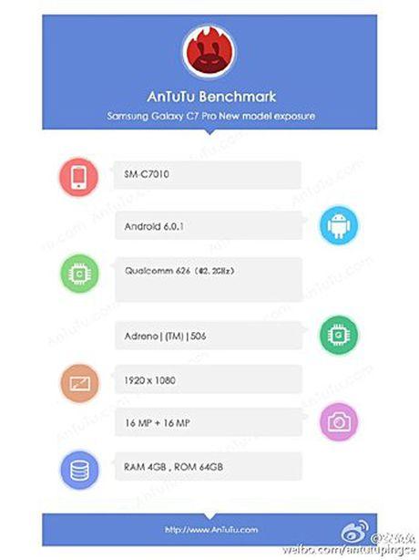 Samsung sap tung Galaxy C7 Pro: man hinh fullHD, camera 'tu suong' 16 MP - Anh 1